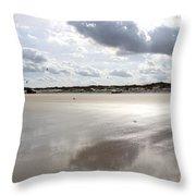 Metallic Beach Throw Pillow