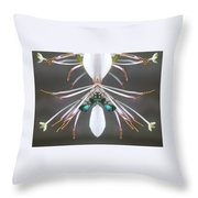 Metallic Bees On Gaura Throw Pillow
