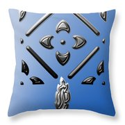 Metallic Blue Throw Pillow