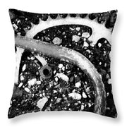 Metallic Curves Throw Pillow