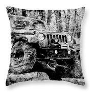 Metallic Jeep Jku Wrangler Throw Pillow