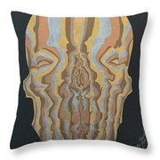 Metallic Skull Throw Pillow