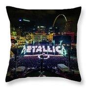 Metallica In Stl Throw Pillow