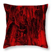 Metamorphism - Bizarre Shapes Throw Pillow