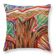 Metamorphosis Of The Great Tree Into Petrified Wood Throw Pillow