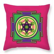 Metatron's Cube Mandala Throw Pillow