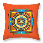 Metatron's Cube Merkaba Mandala Throw Pillow