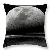 Meteor Crater Moon Throw Pillow
