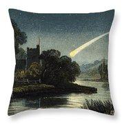 Meteor In Night Sky, 1868 Throw Pillow