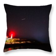 Meteor Over Nubble Throw Pillow