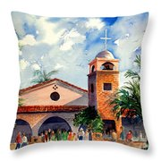 Methodist Church  Gilbert Az Throw Pillow