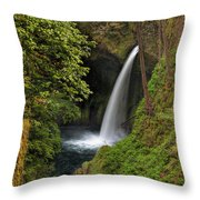 Metlako Falls In Spring Throw Pillow