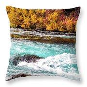 Metolius River Throw Pillow by David Millenheft