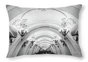 Metro Arbatskaya Throw Pillow