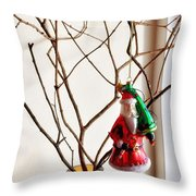 Metro Hipster Santa Throw Pillow