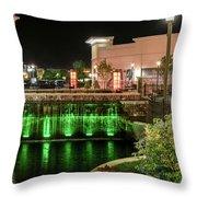 Metro Light Show Throw Pillow