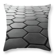 Metro Station In Black And White Throw Pillow