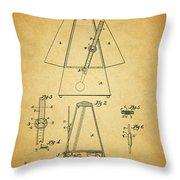 Metronome Patent Throw Pillow