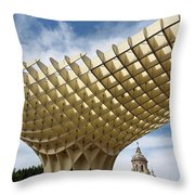 Metropol Parasol At The Plaza Of The Incarnation In Seville Spai Throw Pillow