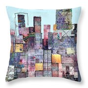 Metropolis 3 Throw Pillow