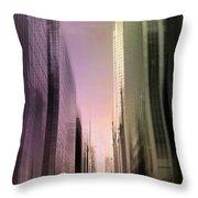 Metropolis Sunset Throw Pillow