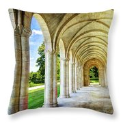 Meuse Argonne American Cemetery Memorial Loggia - Vintage Throw Pillow