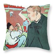 Mevisto In The Country French Theatre Ad Throw Pillow