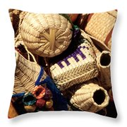 Mexican Baskets Throw Pillow