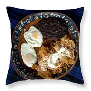 Mexican Breakfast Throw Pillow