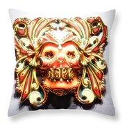 Mexican Day Of The Dead Mask Throw Pillow