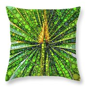 Mexican Fan Palm Leaf Throw Pillow