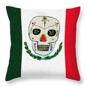 Mexican Flag Of The Dead Throw Pillow