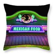 Mexican Food Throw Pillow