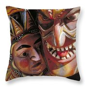 Mexican Masks Throw Pillow
