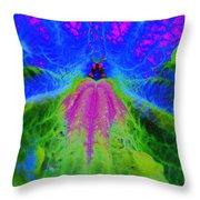 Mexican Petunia Abstract Throw Pillow