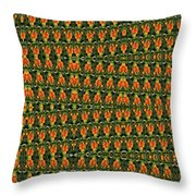 Mexican Poppy Field Abstract Throw Pillow