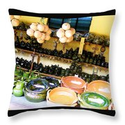 Mexican Pottery Throw Pillow