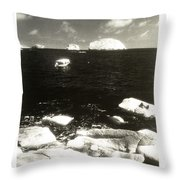 Mexican Seascape Throw Pillow