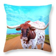 Mexican Standoff Throw Pillow