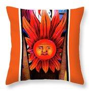 Mexican Sun Throw Pillow