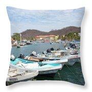 Mexican Transportation Throw Pillow