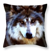 Mexican Wolves Throw Pillow