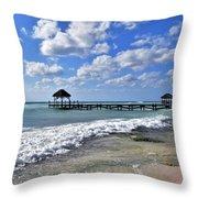 Mexico Beaches Throw Pillow