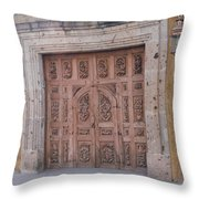 Mexico Door 1 By Tom Ray Throw Pillow