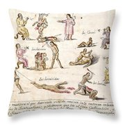 Mexico: Indian Punishments Throw Pillow