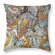 Mexico: Ixmiquilpan Fresco Throw Pillow