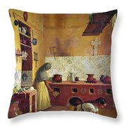 Mexico: Kitchen, C1850 Throw Pillow