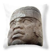 Mexico: Olmec Head Throw Pillow