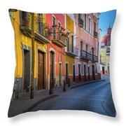 Mexico Street Throw Pillow