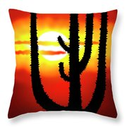 Mexico Sunset Throw Pillow by Michal Boubin
